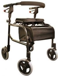 Nexus 3 Rollator Std Tall Handles, Soft Basket